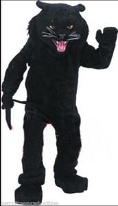 Yüksek kaliteli karnaval yetişkin Panterler maskot kostüm ücretsiz kargo, Gerçek resimler deluxe parti leopar maskot kostüm fabrika doğrudan