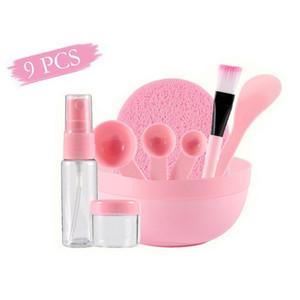 Cosméticos de bricolaje de la mascarilla del maquillaje del cepillo Tazón Cuchara Palo kit botella de spray lavado de cara para la Mujer Máscara facial de herramientas