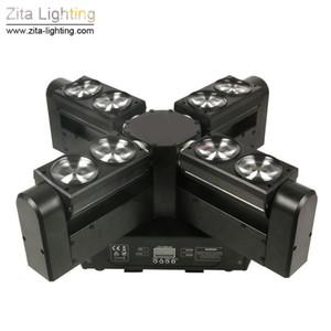 Zita éclairage LED 8 eye Moving Head Lumières Araignée Lumière Scanner Faisceau Éclairage de scène DMX512 Couleur RGBW 8x12 W Disco DJ Party Lumière Effet