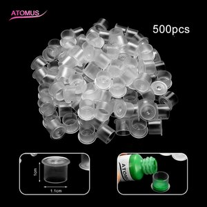 500pcs Small Size Tattoo Colors Cups With Base Caps Tattooing Pigment Plastic Tattoo Inks Cups Supplies Tattoo Inks