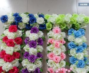 Yapay Çiçek Row DIY İpek Çiçek Gül Çiçek Düğün Arch Road Home Otel Parti Dekoratif Kurşun