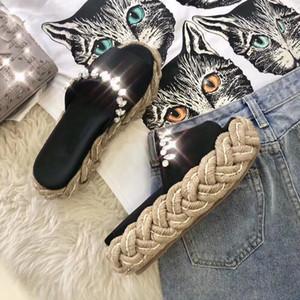 Verão novas mulheres diamantes plataforma chinelo sapatos de malha preta feminina nude design casual pista apartamentos plataforma sapatos senhoras mulas sandálias