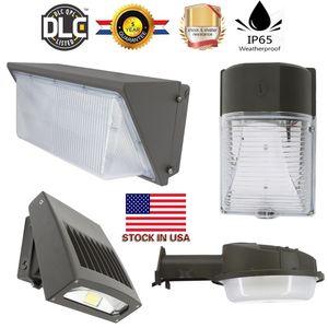 Estoque Em US + LED Wall Pack Luz 12 W 20 W 30 W 35 W 50 W 80 W 100 W 120 W 150 W ao ar livre Montagem Na Parede LEVOU lâmpada do jardim AC90-277V