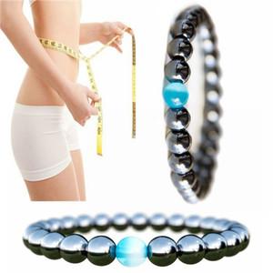 Magnetic Therapy Bracelet Pour Hommes Femmes Perte De Poids Hematite Stretch Cat Eye Bracelet En Pierre Soins De Santé Anti-Fatigue Hommes Perle Bracelet