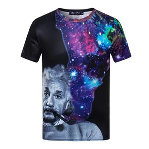 Galaxy Albert Einstein T-shirt Hommes 2018 Été Drôle Coton Top T-shirts À Manches Courtes Le Big Bang Théorie T-shirt 3XL