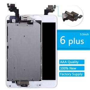 LCD لفون 6 زائد عرض زر الصفحة الرئيسية + كاميرا أمامية تعمل باللمس الشاشة محول الأرقام الجمعية 6plus مجموعة كاملة استبدال شاشة العرض