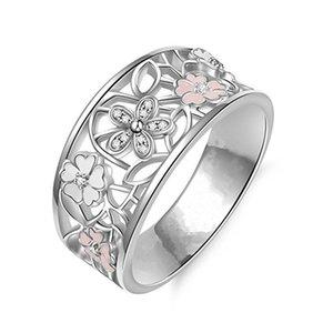 Haif best vendedores originalidade diamante cherry blossoms te amo para a lua e voltar carta anel