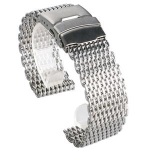 18 milímetros 20 milímetros 22 milímetros 24 milímetros de aço inoxidável preto / prata / ouro pulseira malha Web Excelente Qualidade pulso Strap + 2 barras de mola
