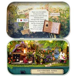 Engraçado Campo Notas 3D de madeira DIY Handmade Box Theater Dollhouse Miniature Box bonito Mini Doll House montar kits de presente Brinquedos