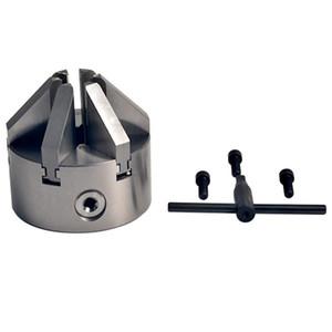 """4 """" 6 челюсти Самоцентрирующийся токарный патрон 3-M8 винт закаленной стали CNC сверление"""