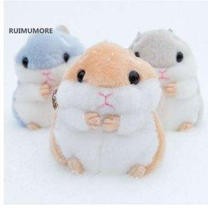 Fluffy New Hamster Mouse Plüschspielzeug - 10CM Tier gefüllte Plüschspielzeugpuppen, Schlüsselanhänger