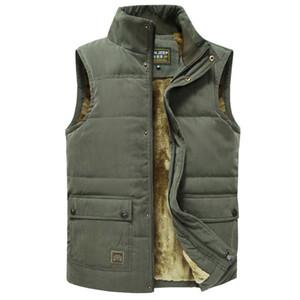 Táctica CALIENTE invierno Trekking Senderismo chaleco sin mangas de los hombres capa de la chaqueta de los hombres de la chaqueta caliente Jeep chalecos Escudo Fleece Ejército Verde Chaleco