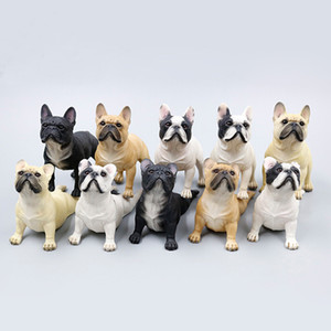 """Serie animale reale n. 1 / 6th scala francese bulldog statua in resina per 12 """"da collezione action figure scena accessori car decor regalo di natale"""