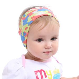 NAVIO RÁPIDO! 6styles 20 * 7cm bonito Orelha do bebê camuflagem Coelho Faixa do cabelo Floral Imprimir Tecido Bowknot Headbands orelha de coelho Headwear BE22