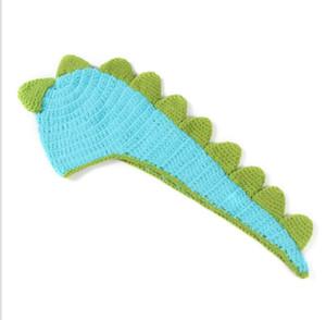 Вязание крючком новорожденных мальчиков девочек динозавр наряды детские фотографии реквизит вязаный динозавр шляпа плащ набор детские костюмы шапочка одежда