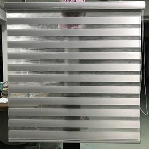 Zebra Blinds Window Window Shade Tende a rullo a doppio strato Grigio chiaro Finestra Taglio su misura Tende per soggiorno G15002