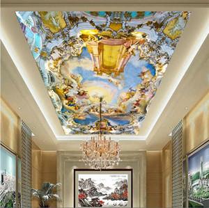 Maison personnalisée grande fresque plafond fresques plafonds Western Europe église plafond 3D papier peint mythe toute taille
