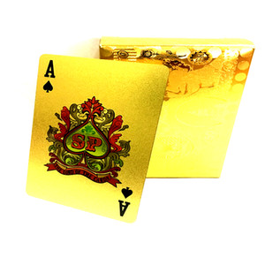 Pound Gold Playing Cards Plástico impermeable Gold Foil Playing Cards Pvc Playing Cards Gold Foil Poker carta de póker Party Game