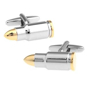 Wn Sıcak Satış Otomatik Tüfek Bullet Kalite Fransız Kol Düğmeleri Gömlek Toptan / Perakende / Arkadaş Erkekler Takı Noel Hediyesi 5pairs kol düğmeleri