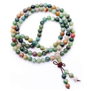 108 Beads Mala Pulseira Colar 6mm de Cristal Buda Pulseira Oração Abençoe Budista Tibetano Pulseira / Colar para As Mulheres meninas