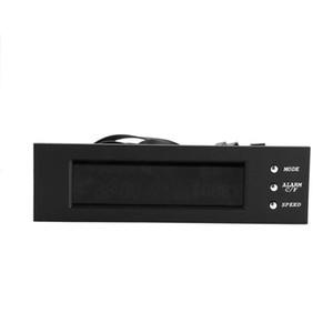 5.25 inç Sürücü Ön LCD Panel Fan Hızı Denetleyicisi 4 Fan Hızı Kontrolör CPU Sıcaklık Sensörü
