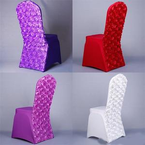 장미 꽃 좌석 커버 탄력 포스 스판덱스 의자 생일 웨딩 파티 연회 장식 케이스 많은 색상 14dy ZZ