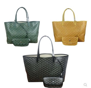 Mode Date Mère Paquet Haute Capacité Designer Fourre-tout Sacs Shopping Sac à Main Célèbre Marque Pu En Cuir 2pcs / set 46cm et 55cm