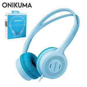 ONIKUMA M100 Kids Headphones PC سماعات حول الأذن للأطفال مزودة بميكروفون لجهاز PS4 Gamepad / Xbox One / Phone