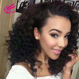 Kapatma Ile brezilyalı Kıvırcık Saç Paketler İnsan Saç Kinky Curl Dantel Kapatma Işlenmemiş Brezilyalı Bakire Saç Demetleri Ile Dantel Kapatma