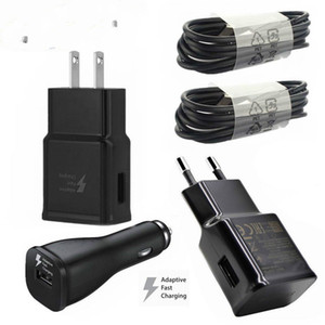 Carregador Rápido OEM Para S8 Além disso 8 Adaptive Rápido Adaptador de Carregador de Viagem de Parede de Carregamento Tipo C Cabo de Dados Micro USB