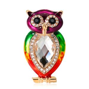 Rainbow Pride Colorful Owl Bird Pin Brooch