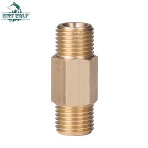 City Wolf Double 1/4 BSP Резьбовое соединение Латунная трубка для пены и адаптер с высоким качеством