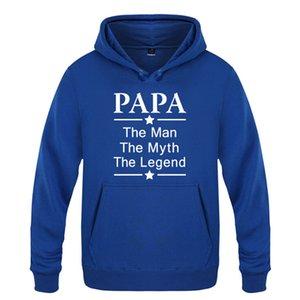 Babalar Günü Hediye Erkek Kapüşonlular Papa: The Man Myth Letter Print Erkek Tişörtü