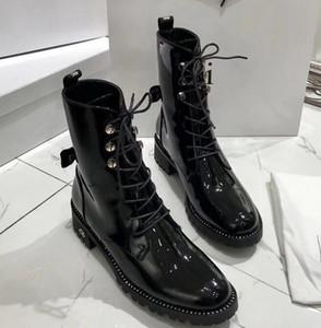Winter-Plattform Niet Stiefel Damen D plus Samt retro British Martin Schuhe dick mit Stiefeletten hoch für Frauen Stiefel