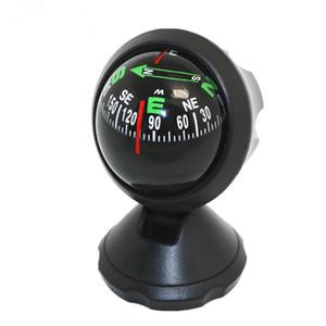 LC550A Guía de coches Bola Compás de coches Brújula de uso múltiple Adornos decorativos Regalo Tamaño pequeño Color negro