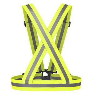 Телескопические эластичные светоотражающие жилеты регулируемая полоса безопасности нажмите группа жилет для запуска Велоспорт открытый инструменты высокое качество 8jla B