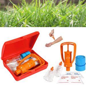 2 set Venom Extractor Pump Kit di primo soccorso per la sicurezza Attrezzo di sopravvivenza per morso di serpente d'emergenza Custodia in plastica SOS