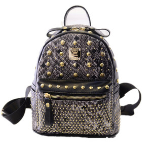 S63 Kids Big Gril Material backpacks designer 2018 fashion black red rucksack bag charms Girl Backpacks free shipping
