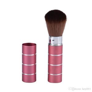 Retractable Dome Blush Brush Aluminium Lidschatten Pinsel, Make-up Zubehör, Kosmetik Make-up-Tools Frauen Mädchen