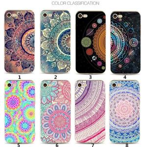 iPhone 11 Moda 3D Mandala Çiçekler yanlısı max X XR Xs max iPhone 11 için TPU Telefon Kılıfı Baskı Datura Arka Kapak Boyalı İçin 8 7plus 6 6s