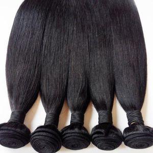 Brazilian virgin Hair Bundles Malaysian Peruvian Mongolian Indian remy Hair Extension Straight 3pcs Russian European human hair weft Factory direct sale