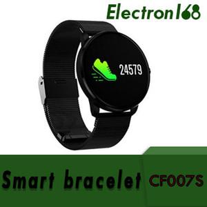 CF007s Inteligente Bluetooth Cor Rodada Tela Pulseiras Pulseira de Relógio Para IOS Android Com Monitor de Pressão Arterial e Freqüência Cardíaca 20 pcs