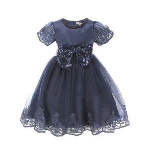 AiLe Кролик одежда для девочек платье принцессы платье с коротким рукавом кружева с бантом бальное платье туту ну вечеринку платье для детей