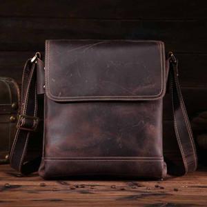 NEWEEKEND Crazy Horse натуральная кожа через плечо сумки посыльного портфель портфель мужская Crossbody сумка для iPad 9065 15