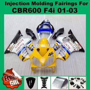 Carenados 100% Fit Injection para F4i HONDA CBR600F4i CBR600RR 01 02 03 CBR 600 F4i CBR 600F4i 2001 2002 2003 # 255G2 ABS Fairing kits