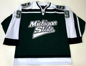 Vintage MICHIGAN STATE #9 JUSTIN ABDELKADER Hockey Jersey Embroidery Stitched Customize any number and name Jerseys.