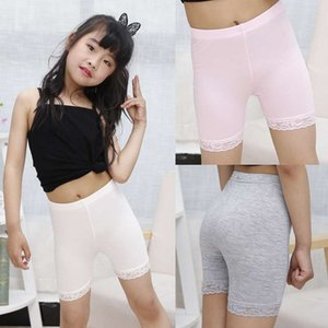 Girl leggings lace safety pants modelle cotton three-point safety pants children lace trim safety shorts.