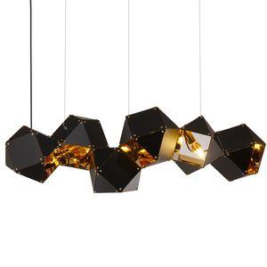 Nordic postmodern metal multi-cabeza de ADN iluminación colgante villa club loft diseñador lámparas colgantes