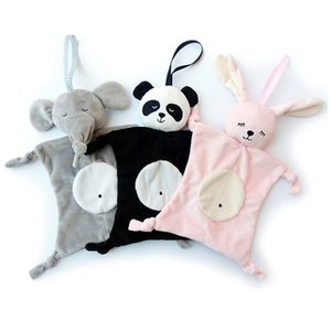 Baby Cute Soothing Towel Baby Toys Animal Shape Infant Baby Gift Soft Toddler Kids Educational Plush Toys Comfort Towel