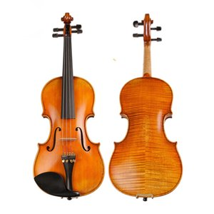 Master Handcraft Antique Violin Professional Séchée Naturellement 30 Ans Europe Importée Stripes Maple Violin 4/4 Pour Collection